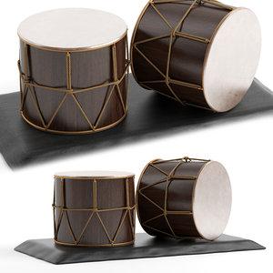 3D azerbaijan national musical instrument