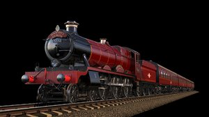 harry potter hogwarts express 3D model