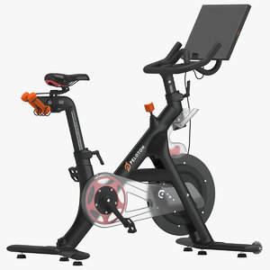 3D model peloton bike gym