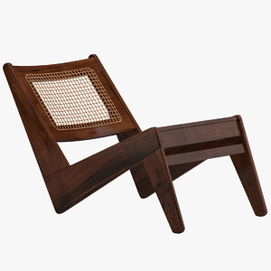 3D pierre jeanneret chair