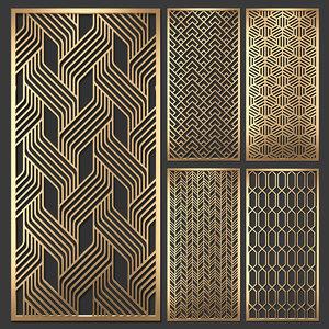 3D decorative partitions