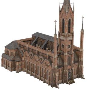 3D church 03 model