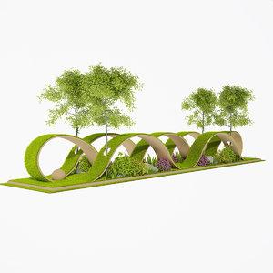 landscape tree plants 3D