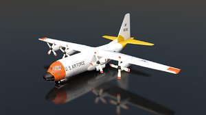 hercules air force aircraft 3D