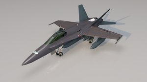 f18 hornet fighter jet 3D model