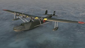 3D kawanishi h6k mavis aircraft