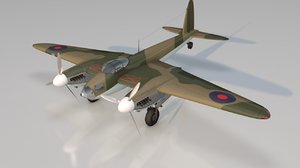 3D mosquito military aircraft model