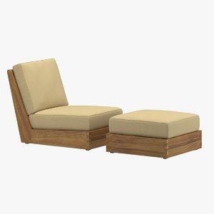 poolside terrace chair 3D model
