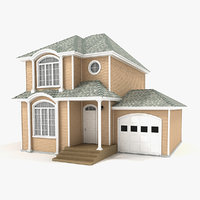 3d max story cottage