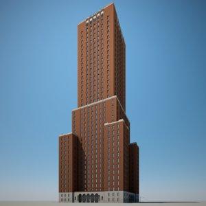 skyscraper highrise 3D model
