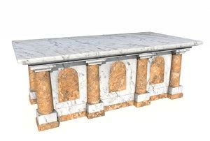 marble altar 3D model
