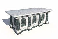 3D marble altar