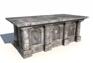 old stone altar 3 3D