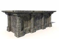 old stone altar model