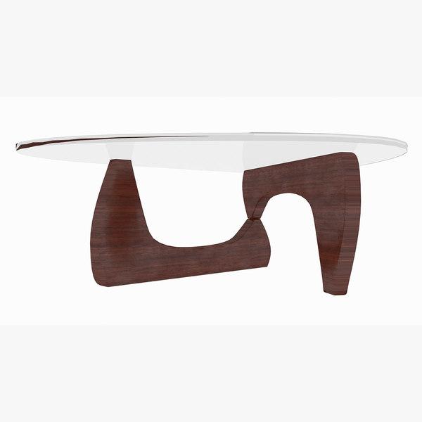 3D coffee table isamu noguchi model