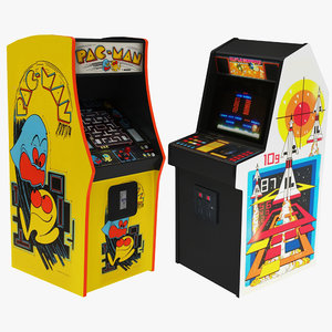 pacman command arcade machine 3D model