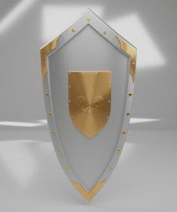 medieval shield 3D model