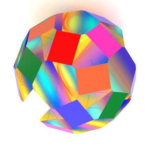 3D prisma ball model