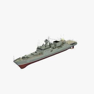 3D grigorovich class frigate
