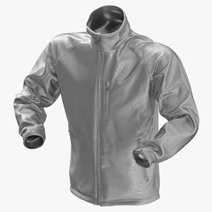 3D model male winter jacket 01