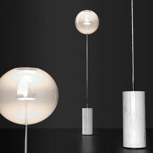 3D floor lamp bolle soffio