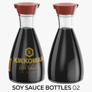 3D model soy sauce bottles 02