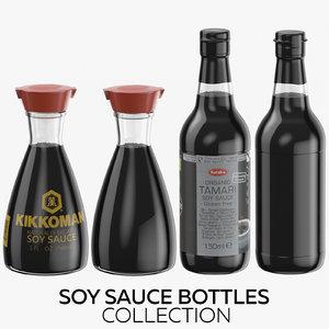 3D soy sauce bottles