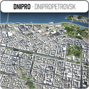 dnipro surrounding - 3D model