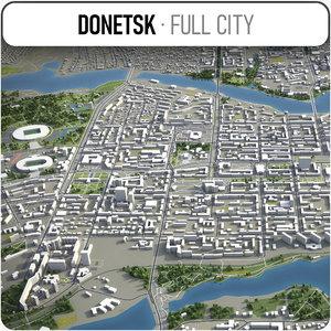 donetsk surrounding - 3D model