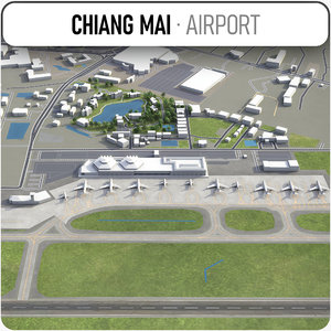 3D chiang mai international airport