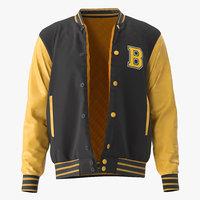 varsity jacket model