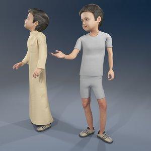 3D arab boy