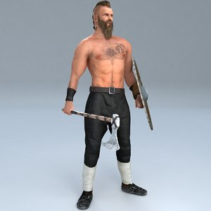3D rigged viking 3