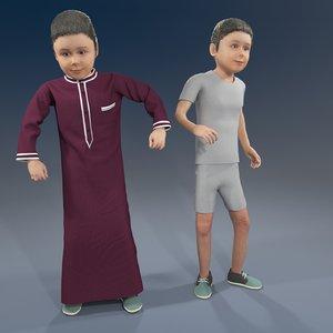 arab boy 3D model