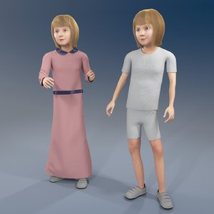 3D model girl arab rabic