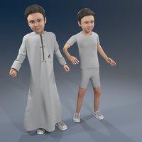 3D arab boy model