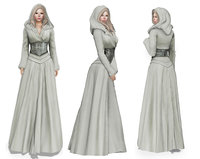 Stahma Hooded Gown With Hair