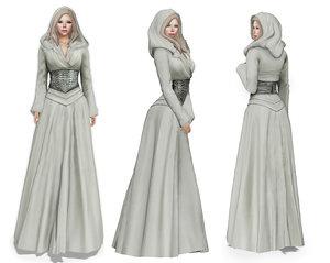 stahma hooded gown hair 3D
