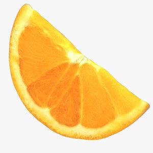 slice orange 3D model