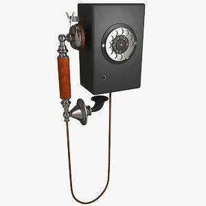 old telephone 3D model