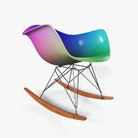 3D eames rocking chair