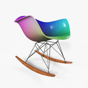 3D eames rocking chair