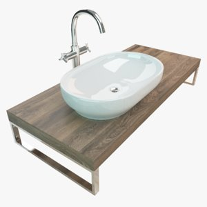 3D bathroom washbasin wash plate