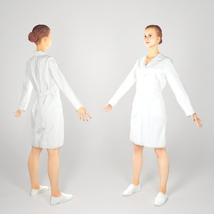 3D ready human young woman