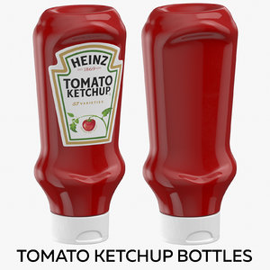 3D tomato ketchup bottles model
