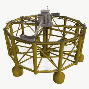 real-time offshore fish farm 3D