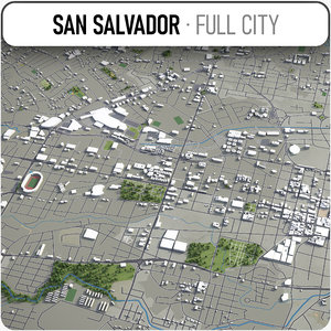 3D san salvador surrounding -