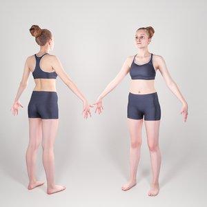 3D photogrammetry animation ready sporty model