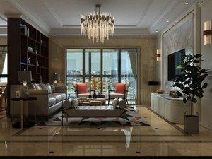 living room dining furniture 3D model