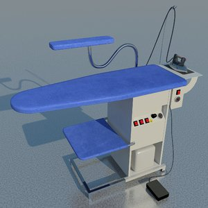 3D industrial ironing table model